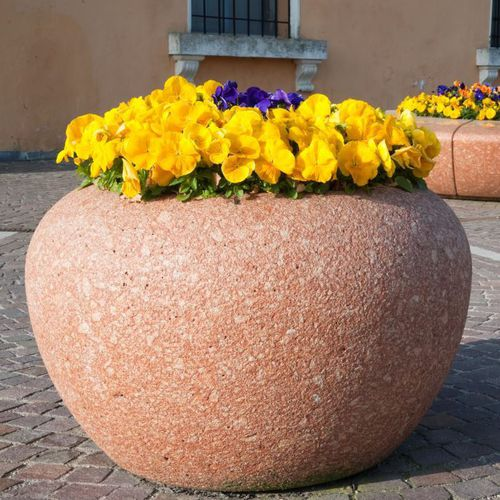 Jardinera de mármol / de piedra natural / redonda / moderna LUNA  BELLITALIA