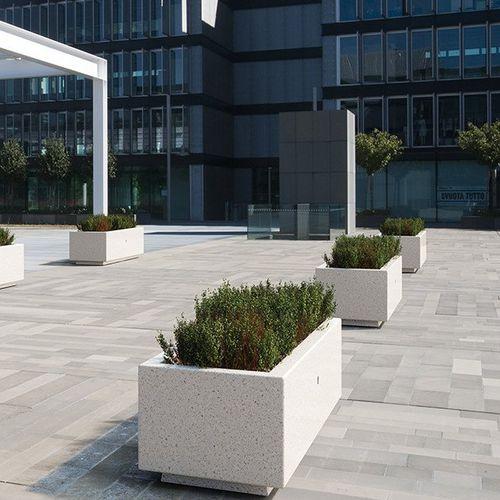 Jardinera de mármol / de piedra natural / rectangular / moderna ARTEMIDE BELLITALIA