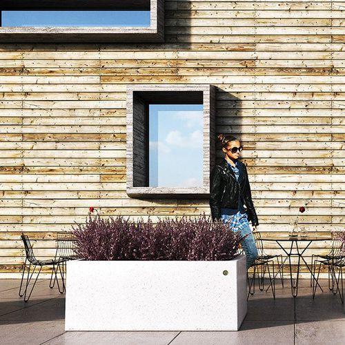 Jardinera de mármol / de piedra natural / rectangular / moderna PAIR by Achille Zilli BELLITALIA