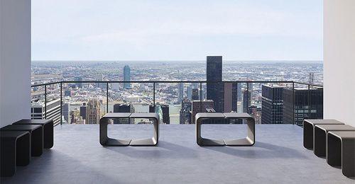 Taburete de diseño minimalista / de hormigón / para uso profesional / de exterior SPRING by Ivan Del Ponte & Matteo Zambelli BELLITALIA
