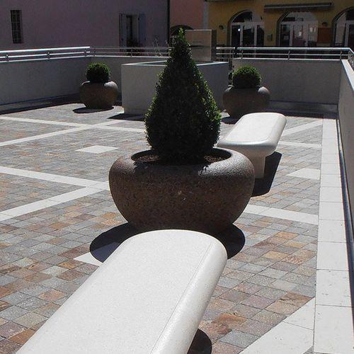 Banco público / moderno / de mármol / de piedra reconstituida AFRODITE BELLITALIA