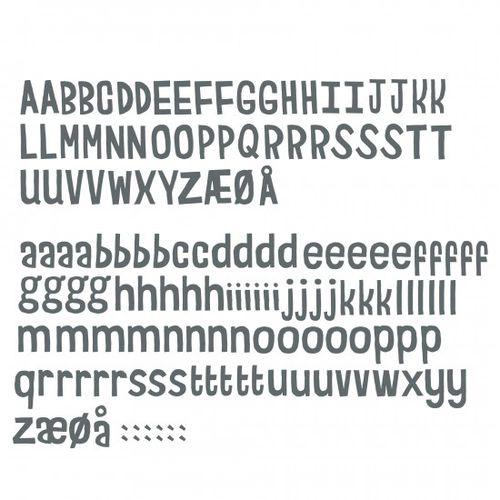 Adhesivo de pared texto / para niños LETTERS Sebra