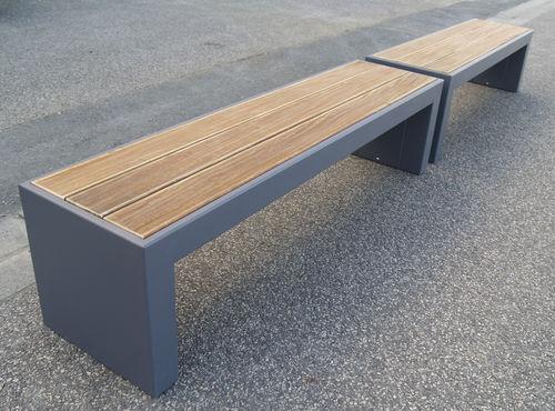 banco público / de jardín / moderno / de madera