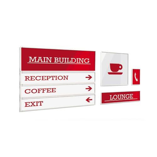 panel de señalización de pared / para suelo / de aluminio / de orientación