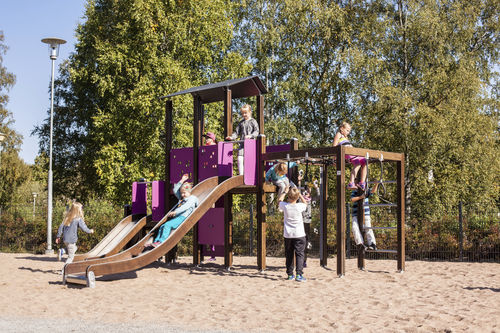 estación de juego para parque infantil / de madera
