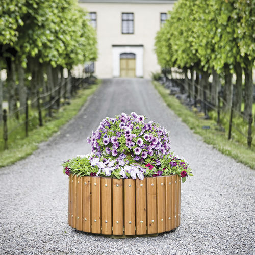 jardinera de madera / redonda / clásica / para espacio público
