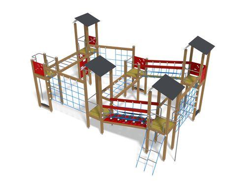 Estación de juego de madera / de HPL / para parque infantil / modulable 137300M Lappset