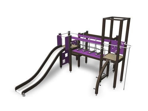 Estación de juego de madera / para parque infantil / modulable 137105M Lappset