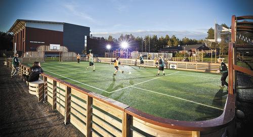 polideportivo para espacio público