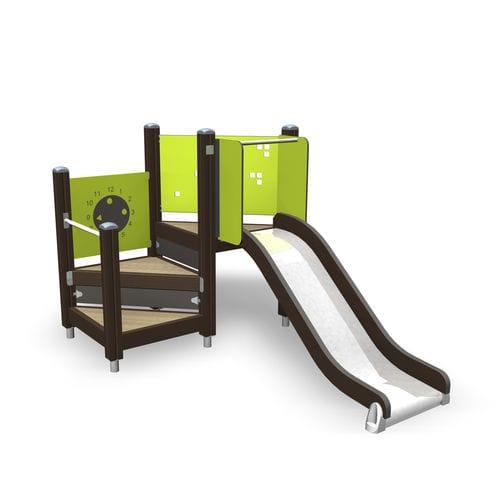 tobogán recto / para parque infantil