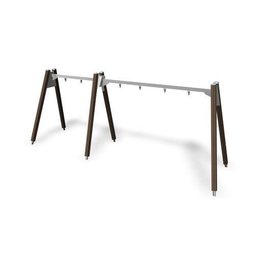 columpio de madera / de acero / para parque infantil / múltiple