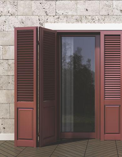 celosía con lamas de aluminio / para fachada / para techado