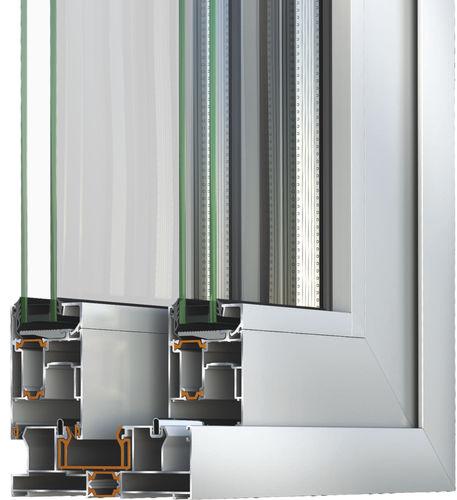 Sistema corredero para puerta de vidrio S560 ALUMIL S.A.