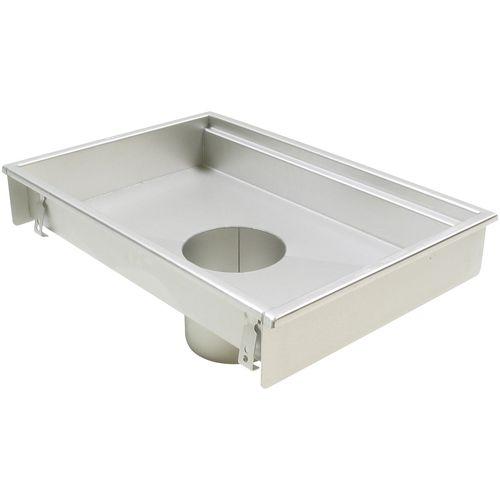 sumidero sifónico de acero inoxidable / para cocina / rectangular