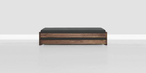 cama estándar / de soltero / moderna / de madera maciza