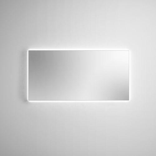espejo para baño de pared / con luz LED / moderno / rectangular