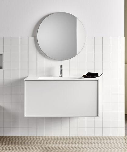 espejo para baño de pared / moderno / redondo