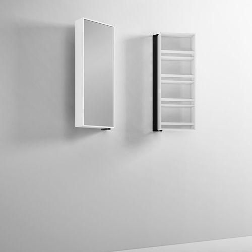 espejo de pared / con almacenamiento / giratorio / moderno
