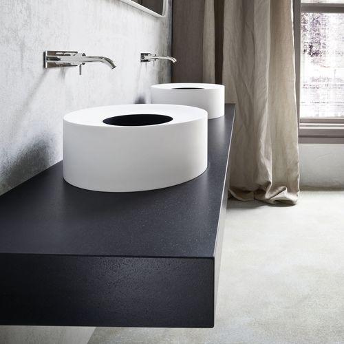 lavabo sobre encimera / redondo / de material compuesto / moderno