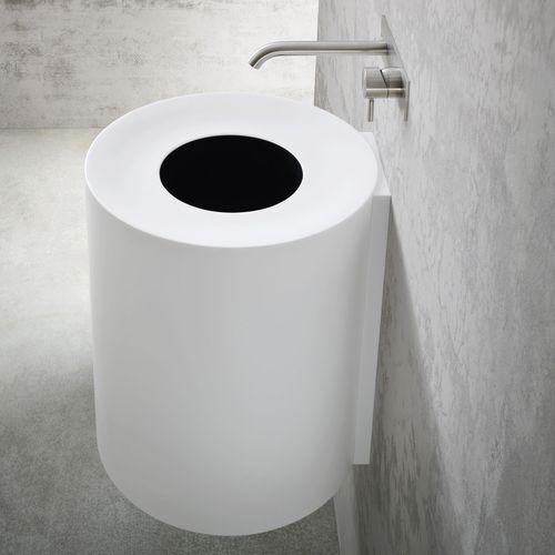 lavabo suspendido / redondo / de material compuesto / moderno