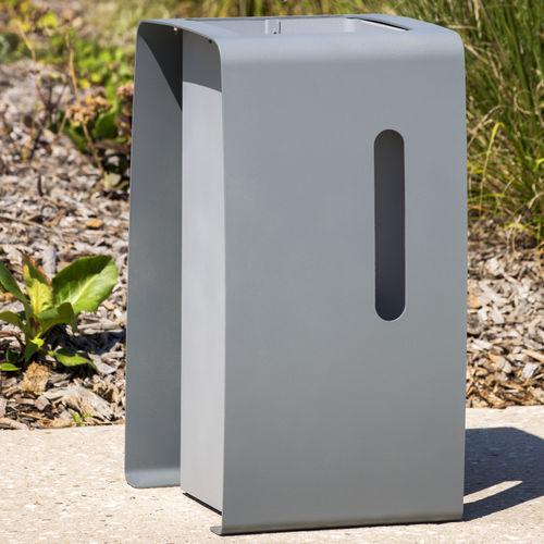 cubo de basura público / de acero galvanizado / de reciclaje / moderno