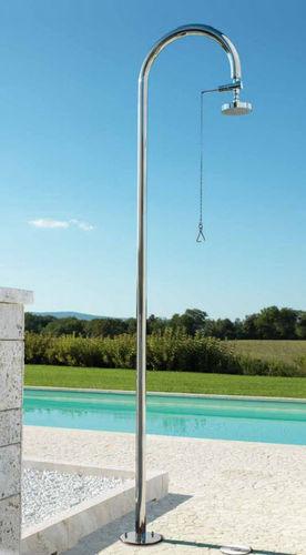 ducha par jardín para piscina / acero inoxidable