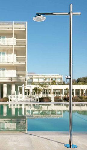 Ducha par jardín para piscina / acero inoxidable ONDA D50 MIX Fontealta