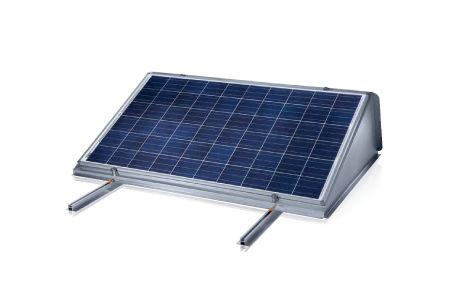 estructura de soporte para cubierta plana / aerodinámica / para instalación fotovoltaica