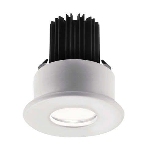 downlight empotrable / para exterior / LED / redondo