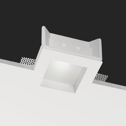 downlight empotrable / LED / halógeno / cuadrado