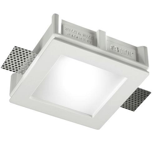 downlight empotrable / LED / halógeno / cuadrado