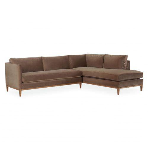 sofá de esquina / moderno / de tejido / 4 plazas