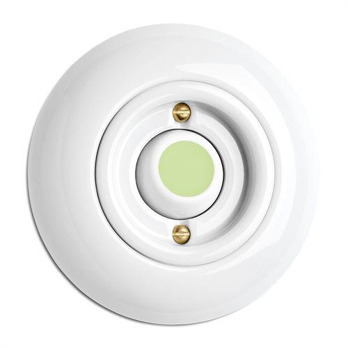 interruptor mecedor / de porcelana / clásico / blanco