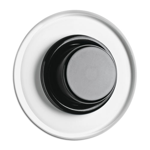 regulador de intensidad luminosa con botón giratorio / de Duroplast / moderno / negro