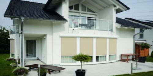 Estor enrollable / de lona / de exterior / para uso residencial ZIPSCREEN D&M Rolladentechnik GmbH