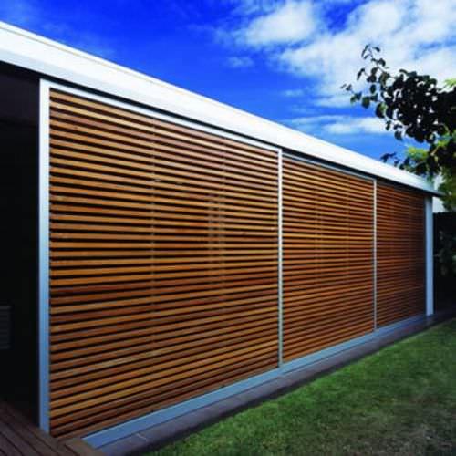 revestimiento de fachada de cedro / liso / en láminas