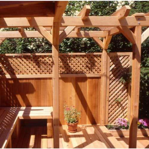 balaustrada de madera / de exterior / para balcón / para terraza