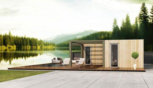 casa prefabricada / modular / remolcable / moderna
