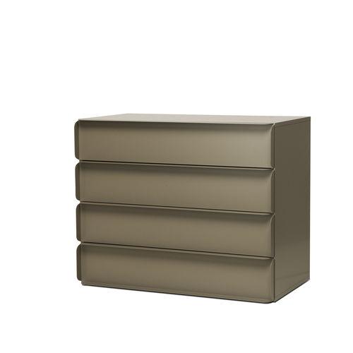 cómoda moderna / de MDF lacado / de aluminio / de Studio Nendo
