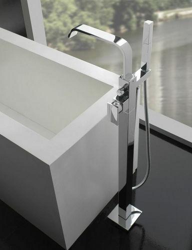 grifo monomando para bañera / para suelo / de metal cromado / de níquel
