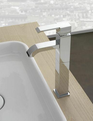 grifo monomando para lavabo / de metal cromado / de níquel / de baño