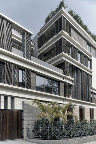 Revestimiento de fachada de cerámica / liso / de panel COLLECTION AVORIO LAMINAM