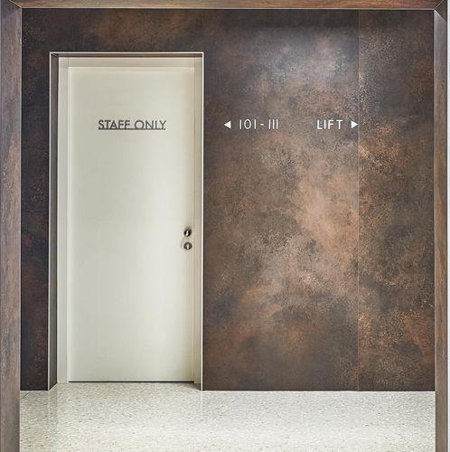 Panel de revestimiento / para revestimiento interior / de cerámica / texturado OSSIDO LAMINAM