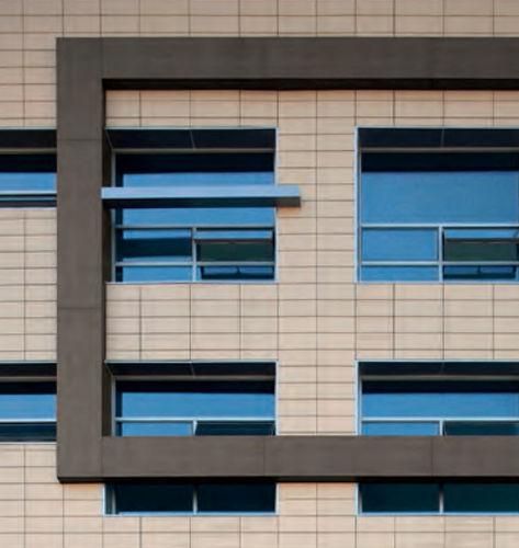 revestimiento de fachada de cerámica / pulido / de panel / de efecto madera