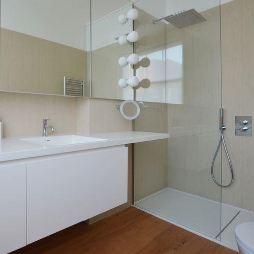 Revestimiento de pared de fibra de madera / para uso residencial / brillante / aspecto mármol MARMI: TRAVERTINO AVORIO LAMINAM