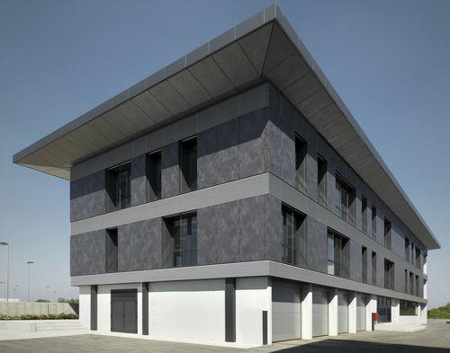 Revestimiento de fachada de cerámica / mate / aspecto metal / para fachada ventilada OXIDE: NERO LAMINAM