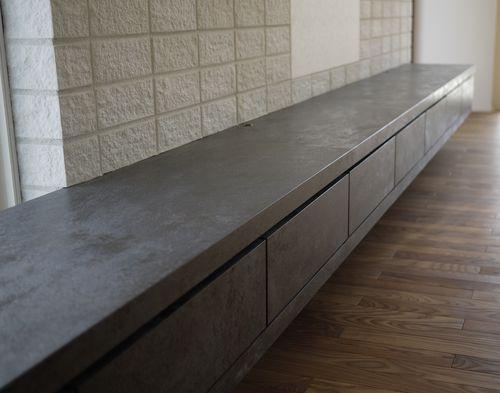 Panel decorativo para revestimiento interior / para cocina / de cerámica / de efecto dimensional OXIDE: MORO LAMINAM