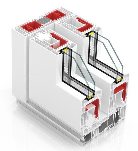 ventana oscilante corredera / de PVC / con vidrio doble / con aislamiento térmico