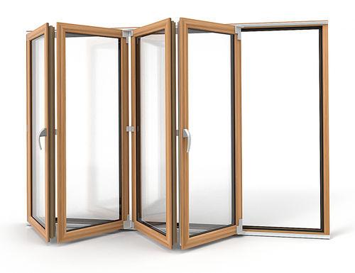 ventana corredera / plegable / de PVC / con vidrio doble