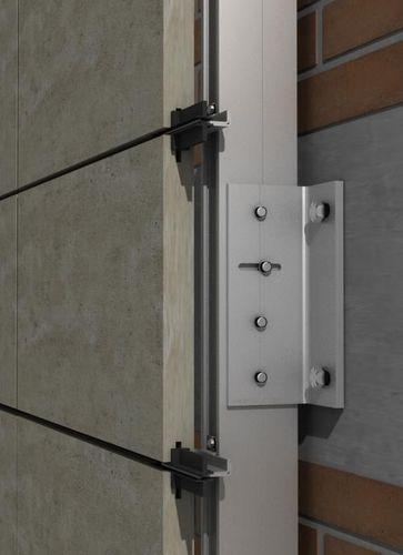 Sistema de fijación aluminio / para revestimiento de fachada / para fachada ventilada / para exteriores PF-ALU-PL  SISTEMA MASA SL